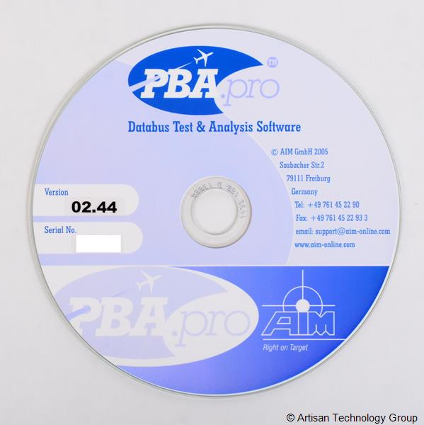 AIM PBA.pro Databus Test and Analysis Software
