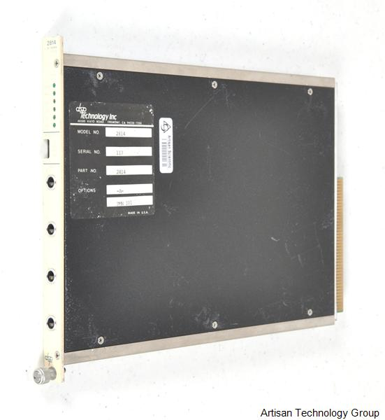MTS Systems / DSP Technology 2814 4-Channel 100 kHz Digitizer CAMAC Module