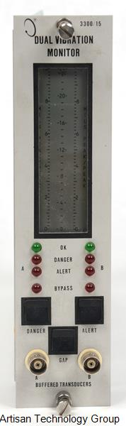 GE / Bently Nevada 3300/15-03-01-00-00-00-00 Dual Vibration Monitor