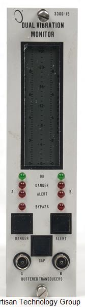 GE / Bently Nevada 3300/15-03-01-02-00-00-00 Dual Vibration Monitor
