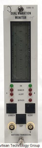 GE / Bently Nevada 3300/15-05-01-00-00-00-00 Dual Vibration Monitor