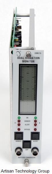 GE / Bently Nevada 3300/15-05-02-00-00-00-00 Dual Vibration Monitor