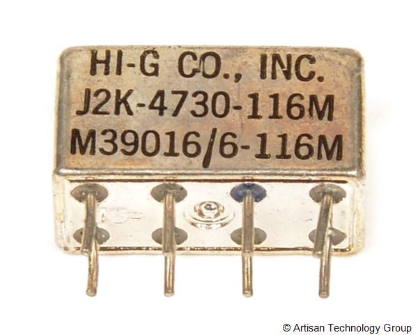 HI-G M39016/6-116M Half Size Crystal CAN Relay
