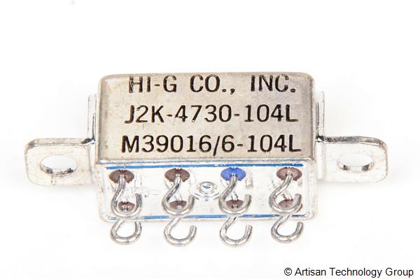 HI-G M39016/6-104L Half Size Crystal CAN Relay