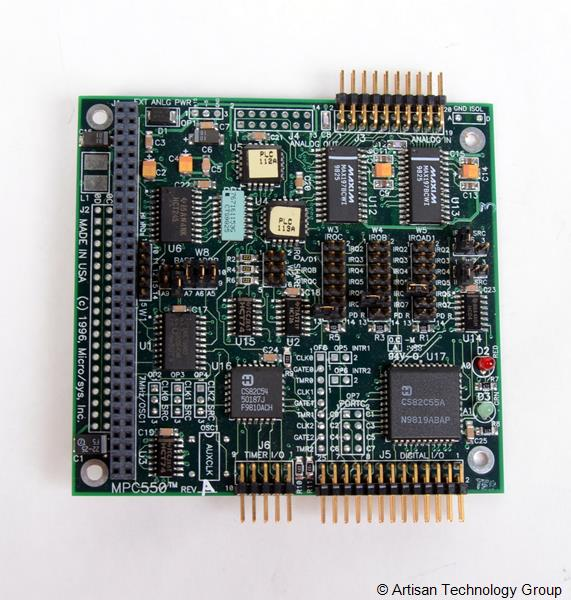 MicroSys MPC550 Analog, Digital, and Timer I/O for PC/104 Module