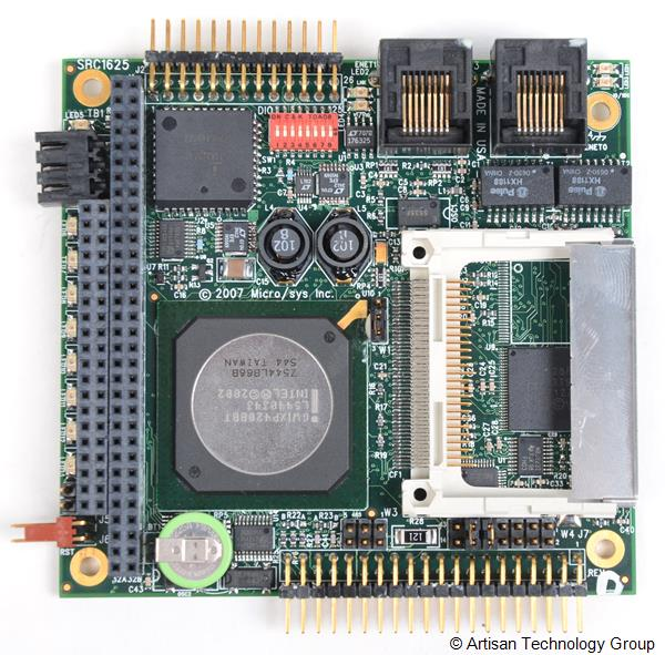 MicroSys SBC1625 XScale PC/104 Computer with Dual Ethernet