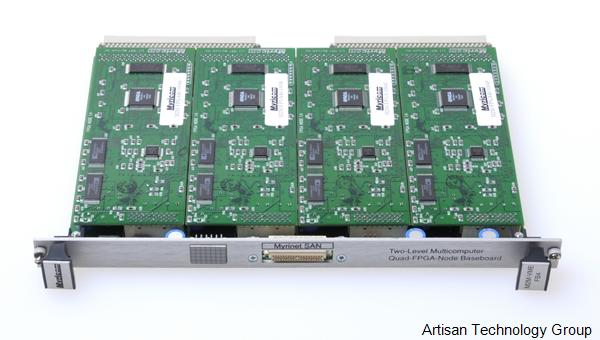 Myricom M2M-VME FBA Two-Level Multicomputer Quad-FPGA-Node Baseboard