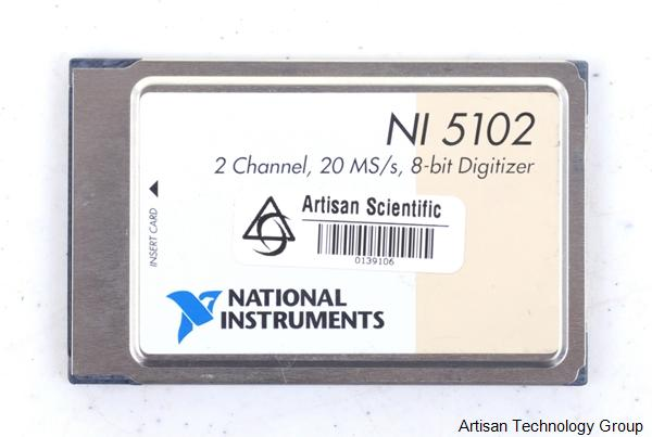 National Instruments PCMCIA-5102 / NI 5102 Dual-Channel 15Mhz 8-Bit Digitizer