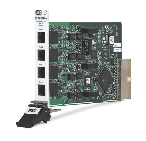 National Instruments PXI-8432/4 RS-232 High-Performance, Isolated 4-Port Serial Interface