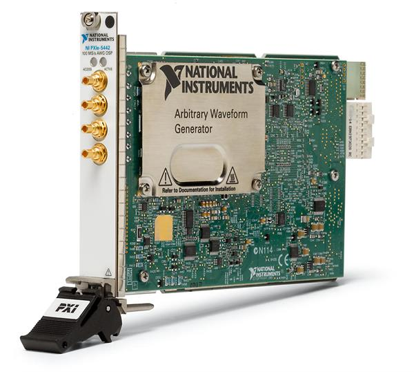 National Instruments PXIe-5442 100 MS/s, 16-Bit Arbitrary Waveform Generator with On-Board Signal Processing