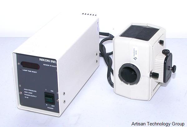 Nikon Xenon 75Watt High Pressure XBO Lamp Power Supply and Lamp House w/75W XE Lamp