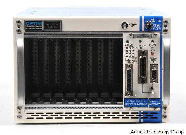 LDS / Optim Electronics Megadac 3407DC 8-Slot Data Acquisition Mainframe