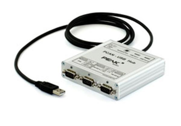 PEAK System PCAN-USB Hub USB, CAN, and RS-232 Communication Adapter