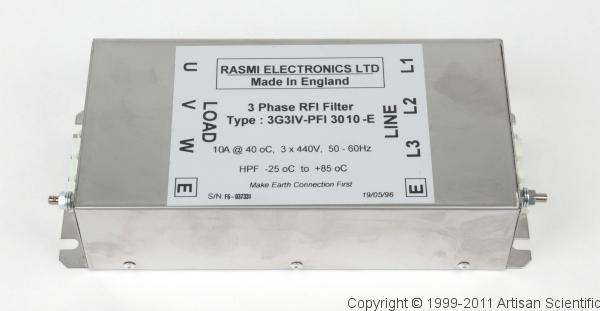 Rasmi 3G3IV-PFI-3010 3-Phase RFI Filter