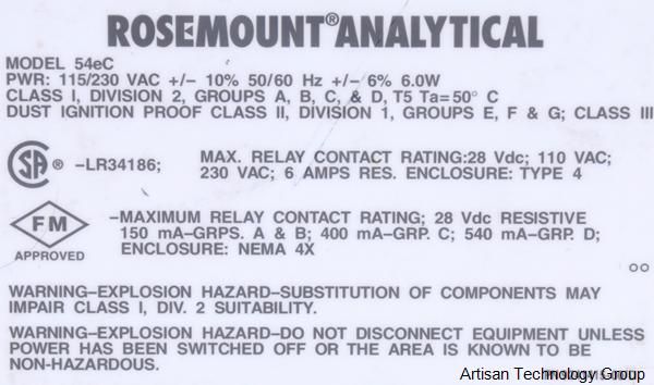 Emerson / Rosemount Analytical 54eC-01 - In Stock, We Buy Sell