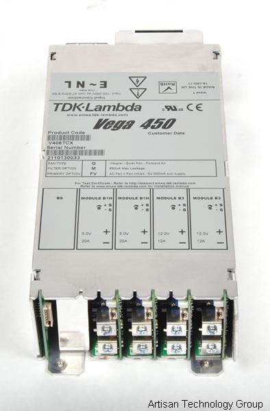 TDK-Lambda Vega 450 Multiple Output Modular Power Supply (5V/20A, 5V/20A, 12V/12A, 12V/12A)