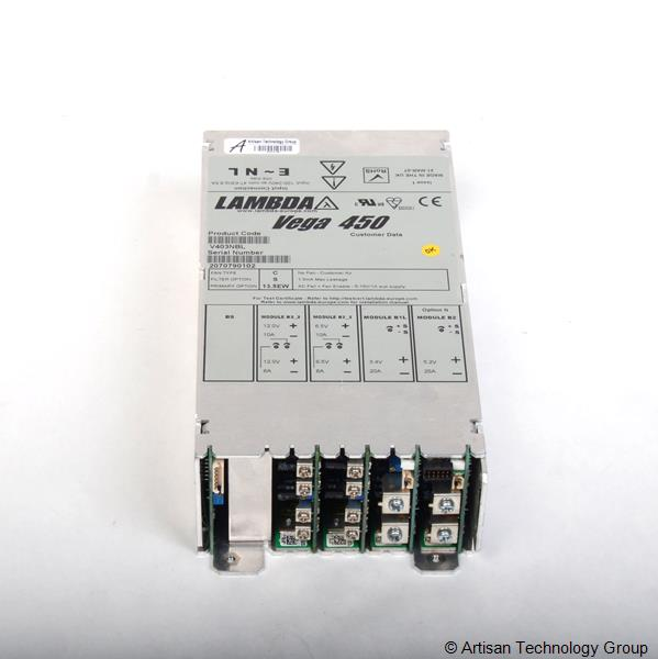 TDK-Lambda Vega 450 Multiple Output Modular Power Supply (12.0V/10A, 12.0V/6A, 6.5V/10A, 6.5V/6A, 3.4V/20A, 5.2V/25A)