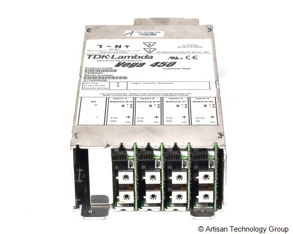 TDK-Lambda Vega 450 Multiple Output Modular Power Supply (5.2V/20A, 5.2V/20A, 3.5V/35A, 24V/6A)