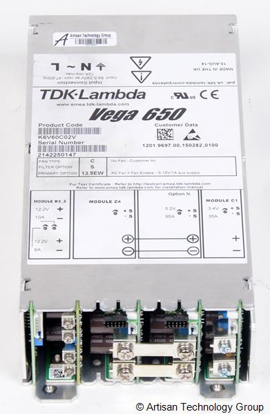 TDK-Lambda Vega 650 Multiple Output Modular Power Supply (5.2V/95A, 12.2V/10A, 12.2V/6A, 3.4V/35A)