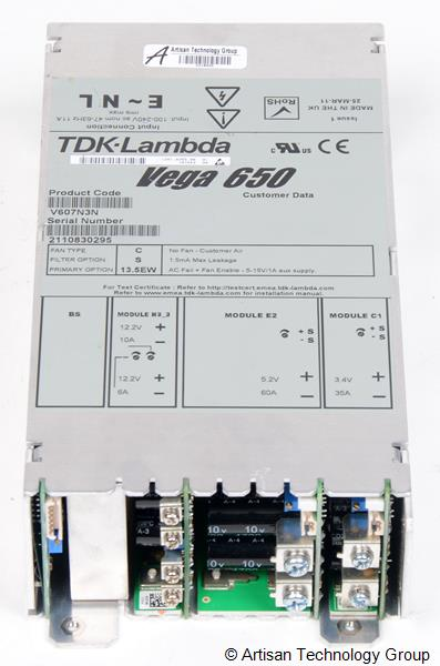 TDK-Lambda Vega 650 Multiple Output Modular Power Supply (5.2V/60A, 12.2V/10A, 12.2V/6A, 3.4V/35A)