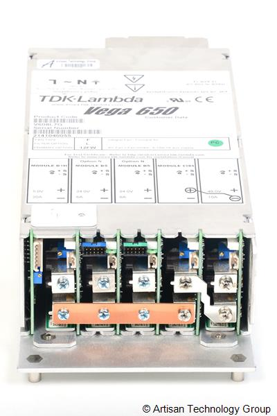 TDK-Lambda Vega 650 Multiple Output Modular Power Supply (5V/20A, 24V/6A, 24V/6A, 48V/10A)